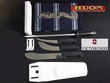 Victorinox 3 PC knife set, butchers Steel, stone, chain belt, apron.butcher