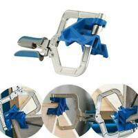 90 Degree Corner Clamp Angled Hole Punch Fixing Clips Home Angle Cabinet W5I1