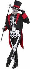 Adult Mr. Bone Jangles Skeleton Costume Day of the Dead Adult Size Standard