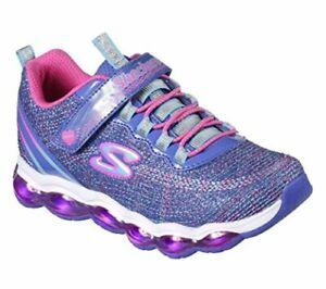 Kids Skechers Girls Glimmer Lights Low Top , Blue/Neon Pink, Size 13.5 GHq