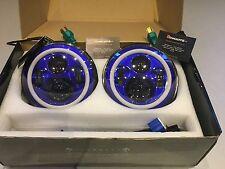 land rover defender 7'' Blue LED Head Lights great quality Kit Car Hot Rod