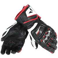 GUANTI DAINESE DRUID D1 LONG NERO BIANCO ROSSO LAVA TG M