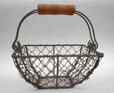 Rustic Vintage Style Wire Gathering Basket Shabby Country Farmhouse Chic *Small*