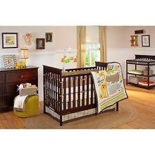 NoJo Zoobilee 3-Piece Crib Bedding Set - Safari - Giraffe,Hippo, alligator