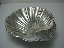 SOLID STERLING SILVER SHELL BUTTER DISH BOWL PLATE BUTTER SHELL by Gorham c1940s