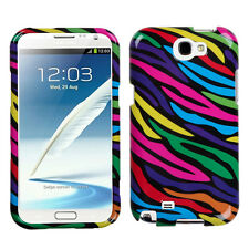For Samsung Galaxy Note II 2 HARD Case Snap On Phone Cover Neon Zebra