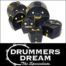 "HARDCASE 6pce Drum Case Set Pack 10"" 12"" 14"" 16"" 22"" 14""Sn RRP $1049"