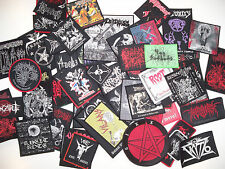 LOTS OF 4 WOVEN/EMBROIDERED DIE-HARD METAL PATCHES, 95 designs (Nuclear War Now)
