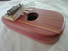 KALIMBA or THUMB PIANO of cedar-Diatonic scale-Fun for anyone.New- Easy to play.