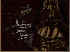 Star Wars FIRMATO metallo 10x8 Dave PROWSE as DARTH VADER