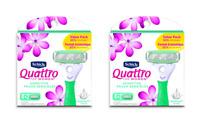 Schick Quattro for Women Sensitive Aloe Refill Razor Blades, 6 Count (2 Pack)