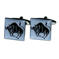 Blue & Black Taurus Star Sign Cufflinks With Gift Pouch Signs Of The Zodiac