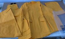 PolyVinyl CONTRACTORS Heavy Duty Yellow 3pc Rain Coat Gear Suit  RHINOHIDE sz. L