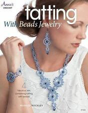 Tatting With Beads Jewelry Book~Beautiful Necklaces & Earrings~Crochet~NEW