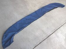 "BLUE BIMINI TOP BOOT COVER BAG SOCK MARINE BOAT shade canopy 80"" wide 73 74 75"