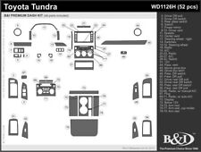 Dash Trim Kit for TOYOTA TUNDRA 14 15 16 17 carbon fiber wood aluminum