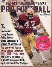 1971 Sports All Stars Football magazine, Larry Brown, Washington Redskins ~ EX