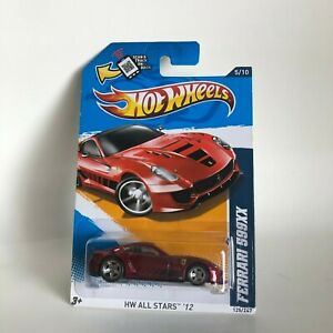 Hot Wheels Ferrari 599XX HW All Stars '12 Super Treasure Hunt S9