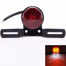 New Universal 12V Rear Tail LED Light License Plate Mount Holder For Motorcycle