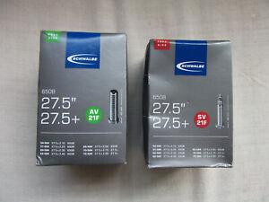 """New Schwalbe 27.5"""", 2.10-3.00, 650B inner tube Presta (thin) or Schrader Valve"""