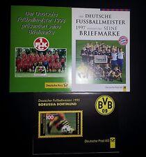 """9 Faltkarten Deutscher Meister BVB (2), FCB, 1. FCK., WM 1994, """"Sepp"""" & FORMEL 1"""