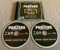 Codename Panzers Commander's Edition (Phase 1+2) PC Computer CD Video Game Set!