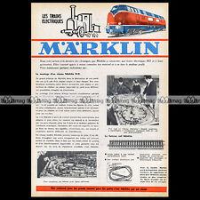 MÄRKLIN Train Electrique NEWS Montage de réseau HO 1962 Pub Publicité Ad #A1197