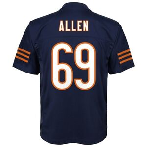 Jared Allen NFL Chicago Bears Mid Tier Home Navy Player Jersey Youth (S-XL)