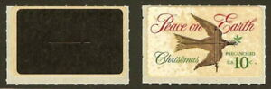 """TD117 / 1552 Christmas Dove """"All Black"""" Test Stamp Mint NH"""