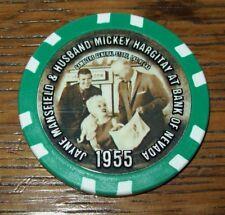 Jayne Mansfield Mickey Hargitay Bank of Nevada Las Vegas Poker Chip 1955 Photo