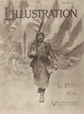 """""""L'ILLUSTRATION: LA FÊTE DE LA VICTOIRE"""" Couverture originale entoilée SIMONT"""