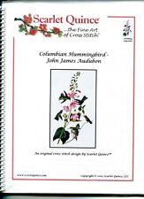 Cross Stitch Chart / Pattern ~ Scarlet Quince - Columbian Hummingbird