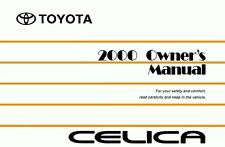 2000 Toyota Celica Owners Manual User Guide Reference Operator Book Fuses Fluids