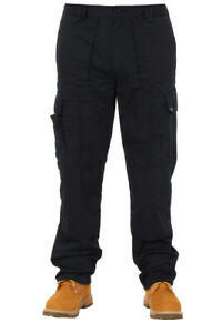 Mens combat cargo work trousers 28-50, army police security military trousers