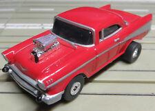 Für H0 Slotcar Racing Modellbahn -- 1957er Chevrolet Bel Air mit Flachankermotor
