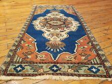 """Beautiful 1950-1960's Vintage 1'9"""" × 3'4"""" Natural Dye, Wool Pile Tribal Rug"""