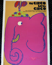 "1978 Original Cuban Movie Poster""Circus Pink Elephant""Lovely Children art.Cinema"