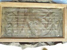 Antique American Cut Star Burst Heavy Glass Window - VERY RARE