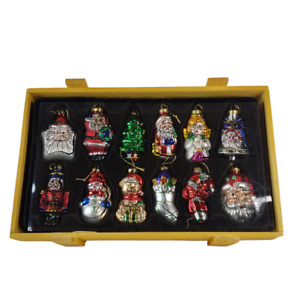 Thomas Paconni Christmas Ornaments Museum Series Boxed Lot of 12 Glass Ornaments