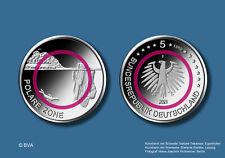 5 Euro Deutschland 2021 bfr Polare Zone Klimazonen der Erde Set  A-J