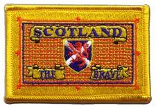 ECOSSE SCOTLAND THE BRAVE écusson drapeaux drapeaux Patch Aufbügler 8x6cm