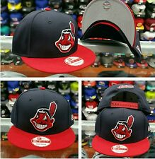 Exclusive New Era MLB Cleveland Indians 9Fifty snapback Hat Navy