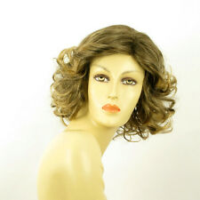 mid length wig for women curly brown wick golden ref TRYCIA 6t24b  PERUK