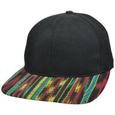 Jamaican Rasta Rastafarian Pattern Bob Marley Blank Flat Bill Snapack Hat Cap