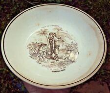 Assiette publicitaire fable de la fontaine le lion et le rat offert par royco