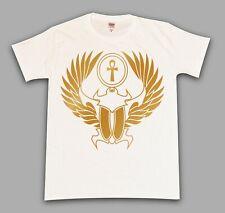 Scarab Ankh Egyptian Illest Swag Drake Dope Trap Gold Chrome White T-Shirt