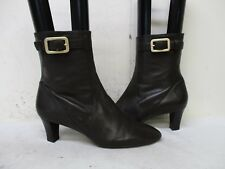 COLE HAAN Brown Leather Zip Ankle Fashion Boots Womens Size 9 B Style D28593