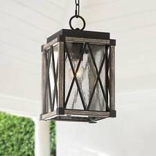"Possini Euro Brawley 14 1/2""H Bronze Outdoor Hanging Light"