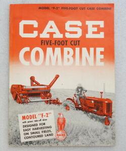 CASE F-2 Five Foot Cut Combine Brochure