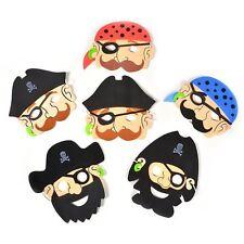 12 Pirate Foam Face Masks Halloween Fancy Dress Costume Loot Party Bag Fillers
